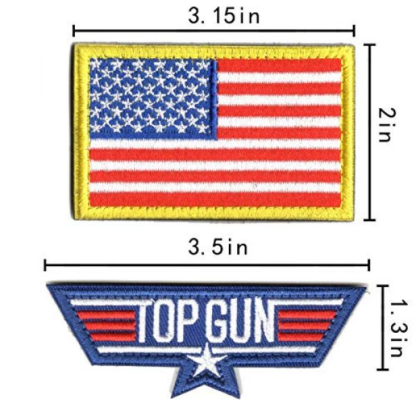 WZT Airsoft Morale Patch 2 WZT 11 Pieces TOP Gun Tactical Morale Military Patch United States Navy Fighter Weapons School, American Flag, CV-61 USS Ranger 100 Centurion, Tom Cat, Pete Mitchell Maverick, VX-31, VF-1 Embroidered