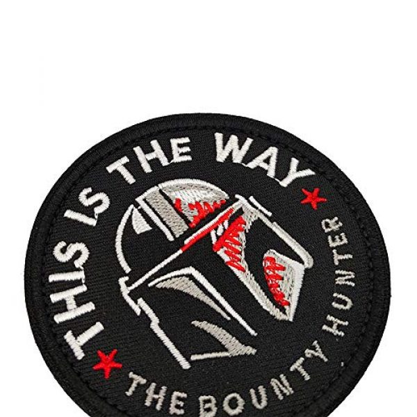 APBVIHL Airsoft Morale Patch 4 This is The Way Mandalorian Star Wars Embroidered Patches, Emblem Tactical Military Morale Funny Patch Decorative Badge, Fastener Hook and Loop Backing