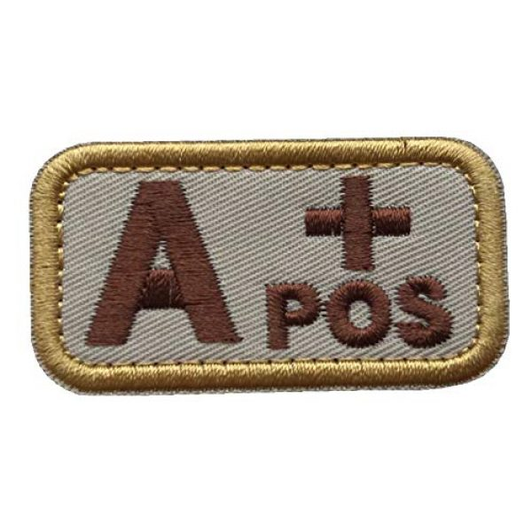 Unknown Airsoft Morale Patch 2 Patches 3D Embroidery Badge Tactics/B/O/AB + Blood Type Morality, Military Badge, Tactical Coat, Sewing Fabric - (Color: E)