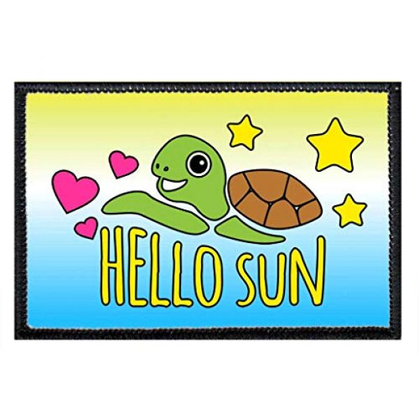 P PULLPATCH Airsoft Morale Patch 1 Hello Sun Morale Patch | Hook and Loop Attach for Hats, Jeans, Vest, Coat | 2x3 in | by Pull Patch