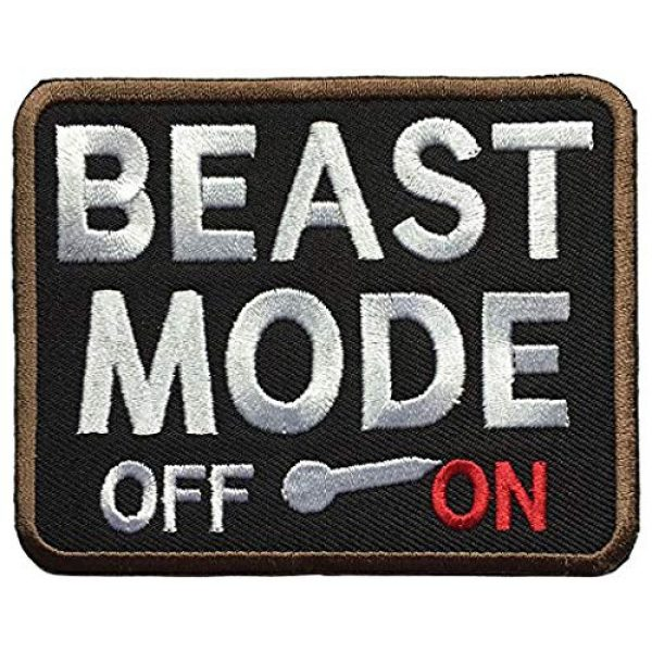 Antrix Airsoft Morale Patch 1 Antrix Beast Mode On Iron On Sew On Patch for Clothes, Jackets, Biker, Uniforms, Tactical Clothes Etc