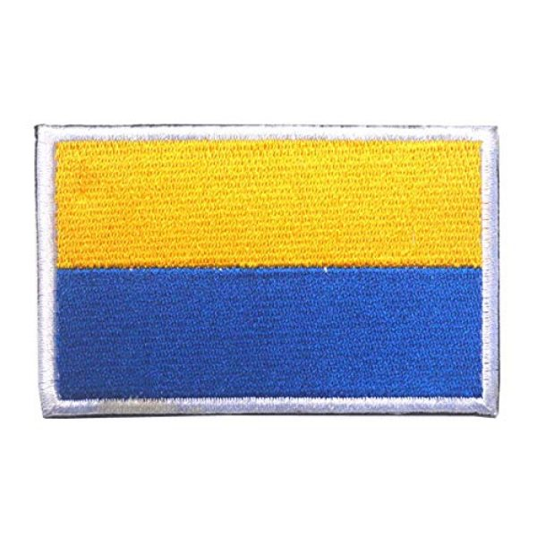Tactical Embroidery Patch Airsoft Morale Patch 2 2pcs Ukraine Flag Embroidery Patch Military Tactical Morale Patch Badges Emblem Applique Hook Patches for Clothes Backpack Accessories