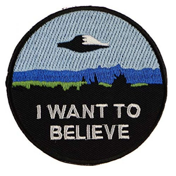 """JPT Airsoft Morale Patch 2 Ê""""Ìá´""""ÌÊ 4 Patches - I Want to Believe, Trust NO ONE, I Want to Leave Iron Sew on Patches"""