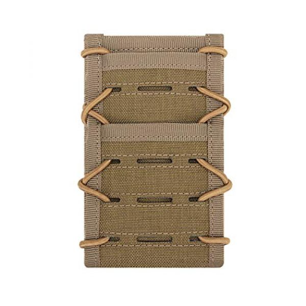 """Aoutacc Tactical Pouch 1 Aoutacc Tactical Phone Holder Holster, Molle Phone Pouch Multitool Sheath with Pocket for 4.7"""" 5.5"""" Phone"""