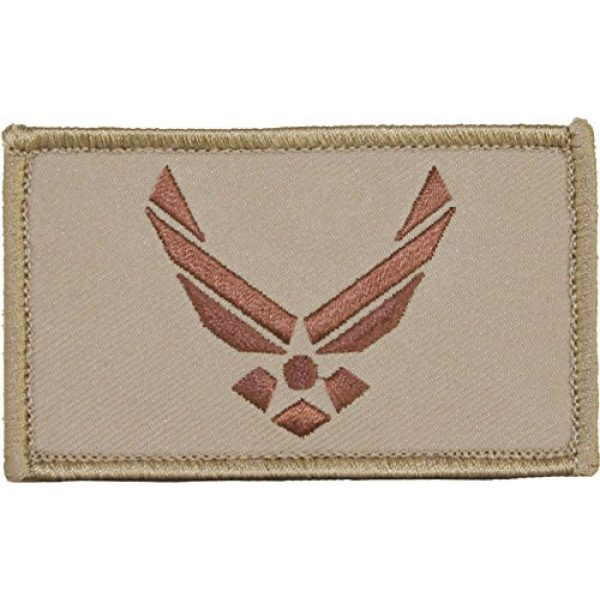 """EAGLE CREST Airsoft Morale Patch 1 U.S. Air Force Hap Arnold Wings 2"""" x 3"""" Hook & Loop 2 Piece Tan Patch"""