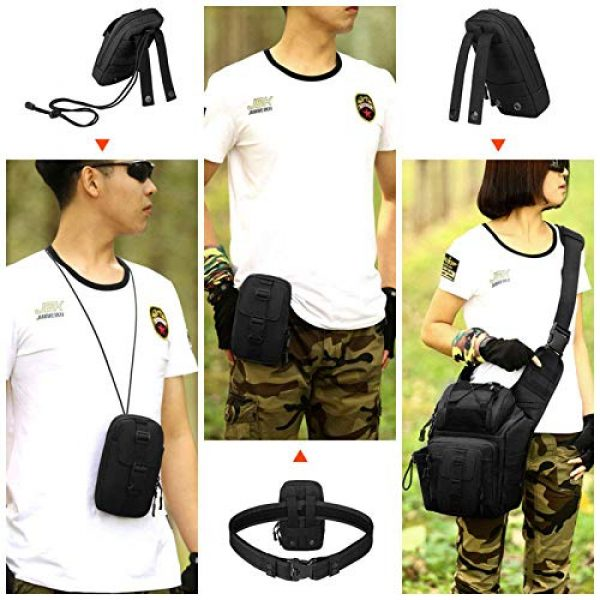 BAIGIO Tactical Pouch 6 BAIGIO Molle Tactical Pouch Phone Holder EDC Pouch Tool Holder Purse Military Belt Pouch