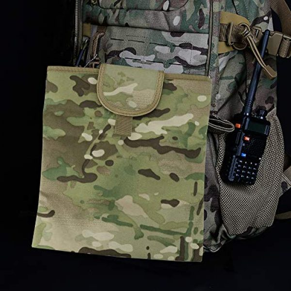 """Aoutacc Tactical Pouch 6 Aoutacc Foldable MOLLE Magazine Dump Pouch, 10""""x11.4"""" Roll-Up Pouch Folding Mag Dump Pouch Tactical Drawstring Magazine Recovery Pouch Holster Bag"""