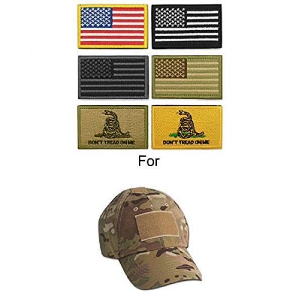 WZT Airsoft Morale Patch 4 WZT Bundle 6 Pieces American Flag Tactical Morale Military Patch Set