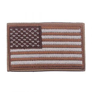 DATOUWEN ACCESSARY Airsoft Morale Patch 1 ZHDTW Tactical Morale US Flag Embroidered Patches with Hook and Loop (DT-029)