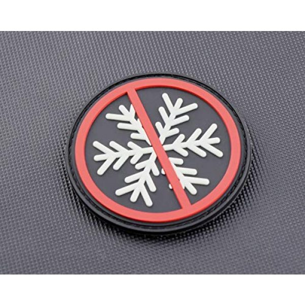 BritKitUSA Airsoft Morale Patch 3 BritKitUSA 3D PVC No Snowflakes Allowed GITD Morale Patch Glow Generation Snowflake Trigger