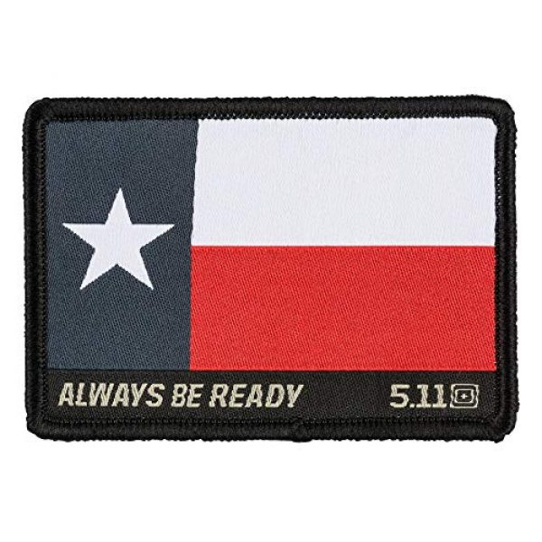 5.11 Airsoft Morale Patch 1 5.11 Tactical Texas Flag Patch, Hook Backing, Laser-Cut Size, Easy Attachment, Style 81197