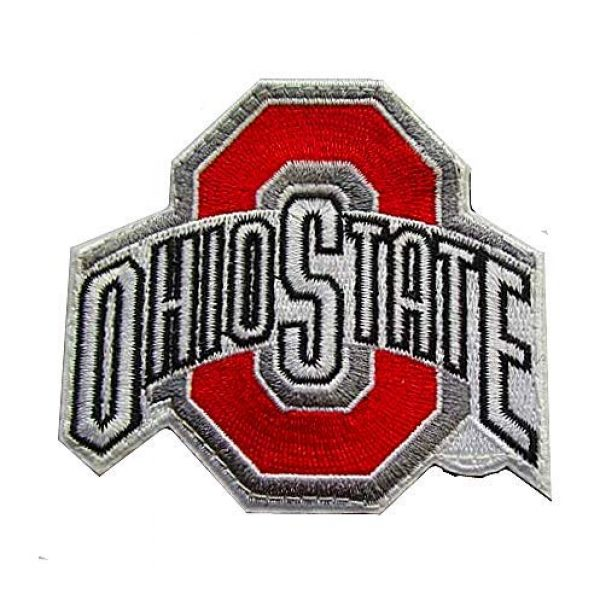 Embroidery Patch Airsoft Morale Patch 1 Ohio State Buckeyes Military Hook Loop Tactics Morale Embroidered Patch