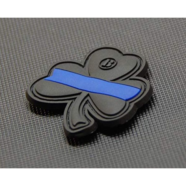 BritKitUSA Airsoft Morale Patch 2 BritKitUSA Thin Blue Line Clover PVC Morale Patch Hook Backing