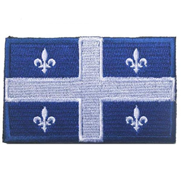 Tactical Embroidery Patch Airsoft Morale Patch 1 Canada Quebec Flag Embroidery Patch Military Tactical Morale Patch Badges Emblem Applique Hook Patches for Clothes Backpack Accessories