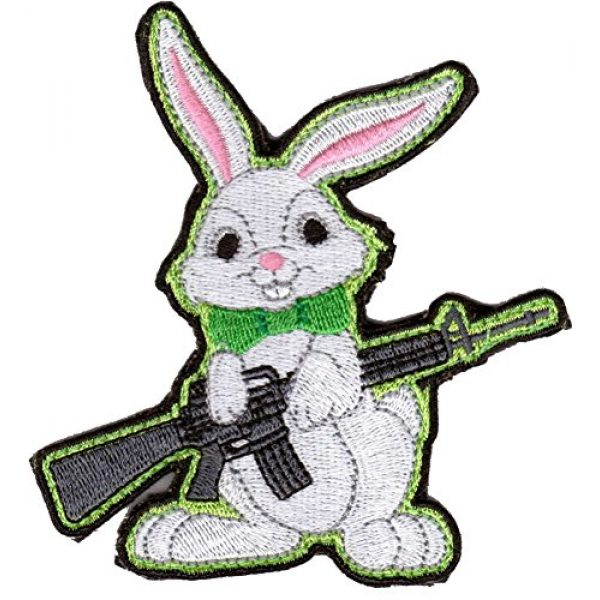 Gadsden and Culpeper Airsoft Morale Patch 1 Evil Easter Bunny AR-15 Tactical Morale Patch - Color