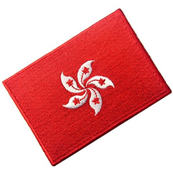 EmbTao Airsoft Morale Patch 3 Hong Kong Flag Embroidered Emblem Pearl of The Orient Iron On Sew On National Patch