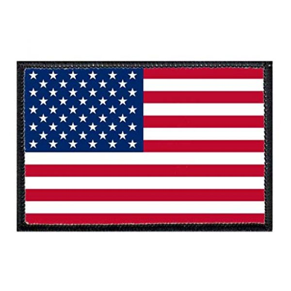 P PULLPATCH Airsoft Morale Patch 1 American Flag Morale Patch   Hook and Loop Attach for Hats, Jeans, Vest, Coat   2x3 in   by Pull Patch