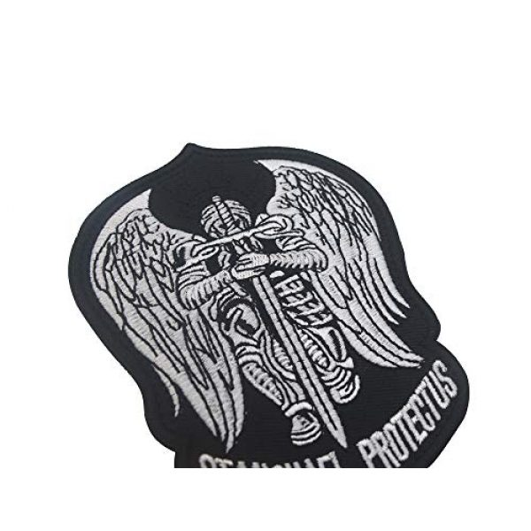 Zhikang68 Airsoft Morale Patch 4 St.Saint Michael Protect Us Modern Morale Embroidered Patch Tactical Military Army Operator Patches Applique for Coat Jacket Gear Cap Hat Backpack