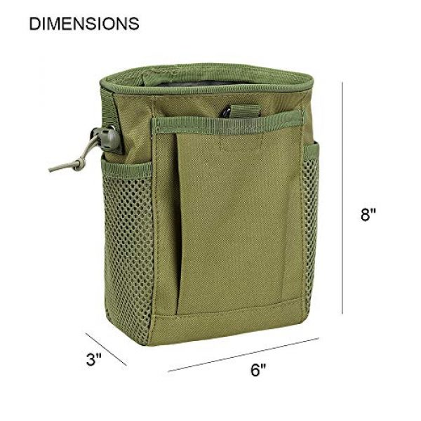 AMYIPO Tactical Pouch 2 AMYIPO Tactical Molle Drawstring Magazine Dump Pouch, Military Adjustable Belt Utility Hip Holster Bag Outdoor Mag Pouch