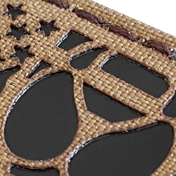 Tactical Freaky Airsoft Morale Patch 6 IR Coyote Brown Tan Infrared USA Flag K9 Dog Handler Paw K-9 Tactical Morale Hook&Loop Patch