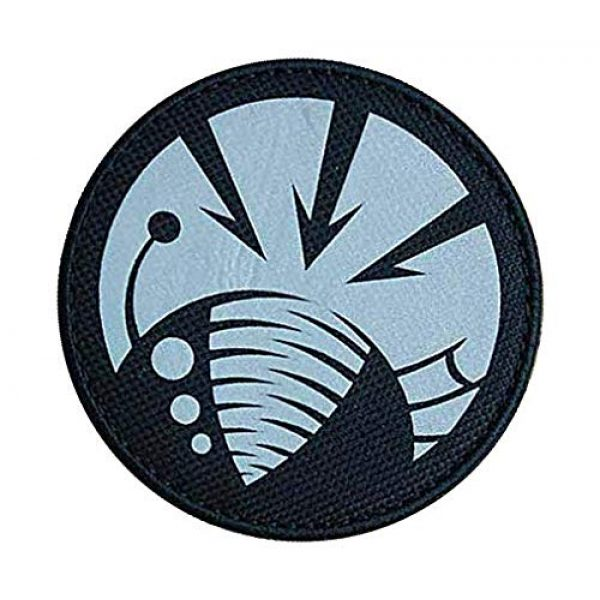 """Embroidery Patch Airsoft Morale Patch 3 SCP Foundation Special Containment Procedures Foundation SCP Mobile Task Forces Gamma-6 Deep Feeders"""" Military Hook Loop Tactics Morale Reflective Patch"""