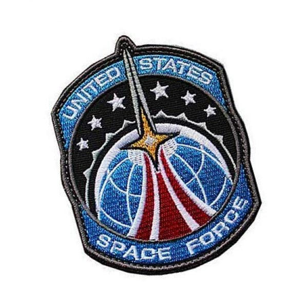 Embroidery Patch Airsoft Morale Patch 2 US Space Force Military Hook Loop Tactics Morale Embroidered Patch