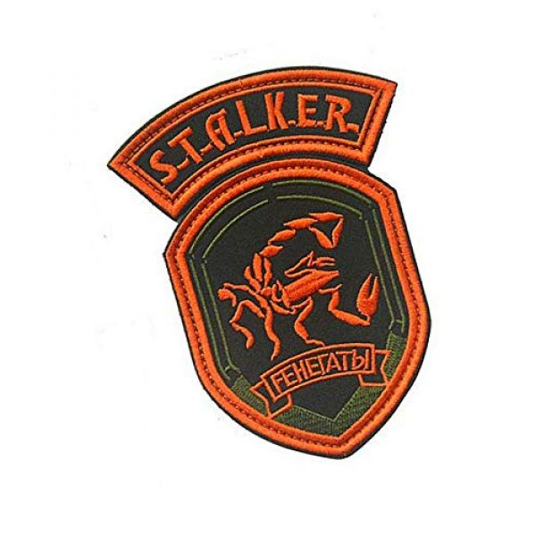 Embroidery Patch Airsoft Morale Patch 2 2 Pieces Stalker S.T.A.L.K.E.R. Factions Renegades Shadow of Chernobyl Military Hook Loop Tactics Morale Embroidered Patch