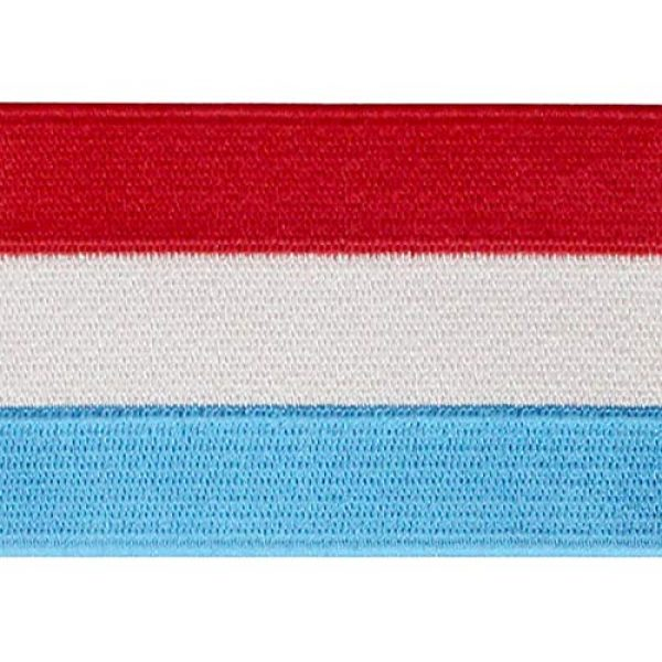 EmbTao Airsoft Morale Patch 2 EmbTao Luxembourg Flag Patch Embroidered National Morale Applique Iron On Sew On Luxembourgish Emblem