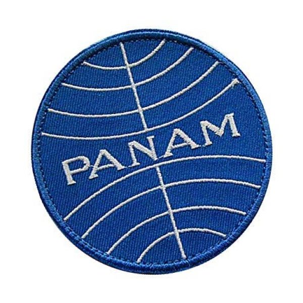 Embroidery Patch Airsoft Morale Patch 2 Pan Am Airlines Military Hook Loop Tactics Morale Embroidered Patch