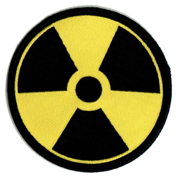Cypress Collectibles Embroidered Patches Airsoft Morale Patch 1 Nuclear Radiation Symbol Embroidered Patch Iron-On Danger Symbol Yellow Logo