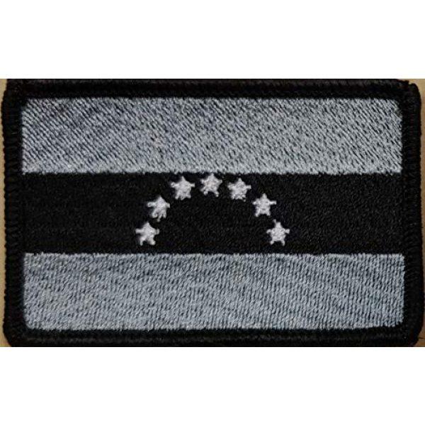 Fast Service Designs Airsoft Morale Patch 2 Venezuela Flag 7 Star Patch Iron-On Morale Patriotic Morale Black Border #4