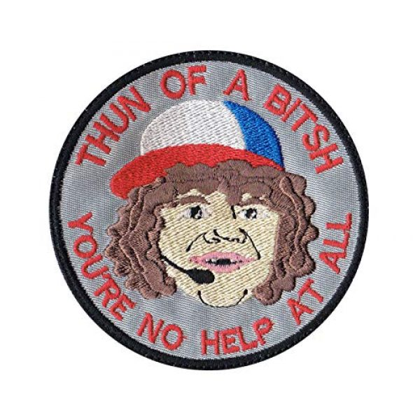 Tactical Patch Works Airsoft Morale Patch 1 Dustin Son Thun Of A Bitsh Stranger Things Inspired Art Patch