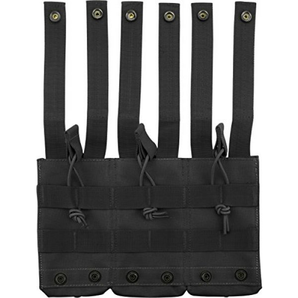 BARSKA Tactical Pouch 3 BARSKA Loaded Gear Tactical Triple Stacker Open Top Magazine M4 M16 AR15 Molle Mag Pouch