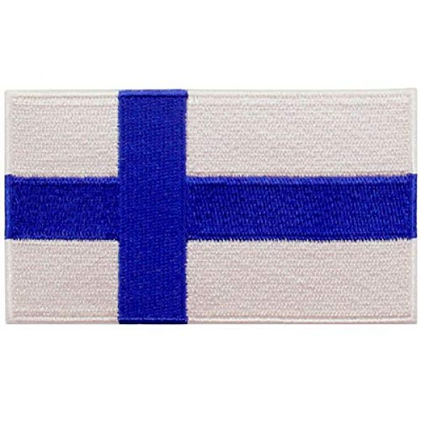 EmbTao Airsoft Morale Patch 1 EmbTao Finland Flag Patch Embroidered National Morale Applique Iron On Sew On Finnish Emblem