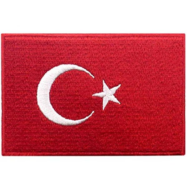EmbTao Airsoft Morale Patch 1 EmbTao Turkey Flag Patch Embroidered National Morale Applique Iron On Sew On Turk Emblem