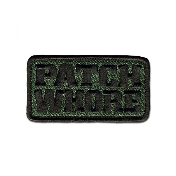 BASTION Airsoft Morale Patch 1 BASTION Morale Patches (Patch Whore, ODG) | 3D Embroidered Patches with Hook & Loop Fastener Backing | Well-Made Clean Stitching | Military Patches Ideal for Tactical Bag, Hats & Vest