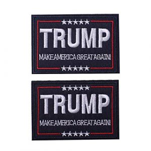 Harsgs Airsoft Morale Patch 1 Harsgs Trump Tactical Morale Patch Make American Great Again Hook and Loop Patch