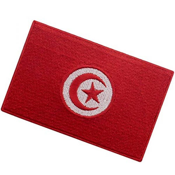 EmbTao Airsoft Morale Patch 4 EmbTao Tunisia Flag Patch Embroidered National Morale Applique Iron On Sew On Tunisian Emblem