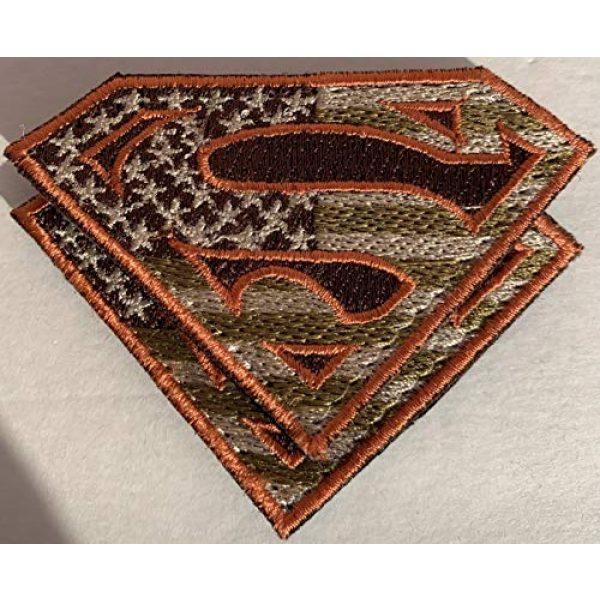 Equinox MR Airsoft Morale Patch 7 Bundle 2 pieces - American Superman large Patches Military Colors
