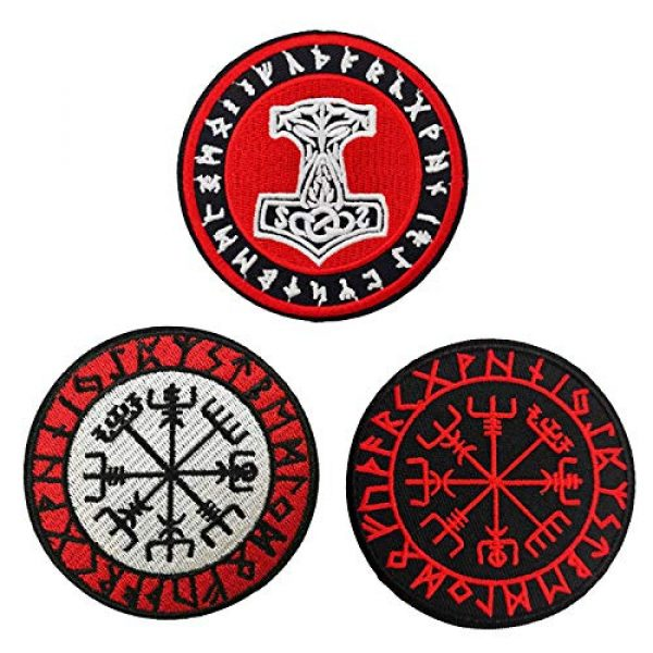 Cute-Patch Airsoft Morale Patch 1 Viking Compass Vegvisir Embroidered Iron on sew on Patch