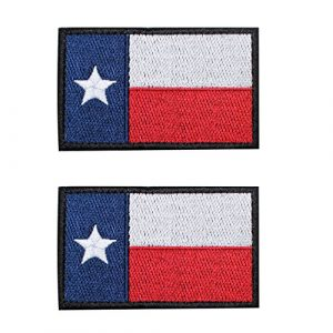"""EJG Airsoft Morale Patch 1 EJG 2 Pack 3x2""""Velcro Patches Tactical Patch Texas Flag Military Army with Velcro Decorative Embroidered Appliques Personalized for Backpacks DIY Cap Clothing Cosplay Custom Dog Harness"""