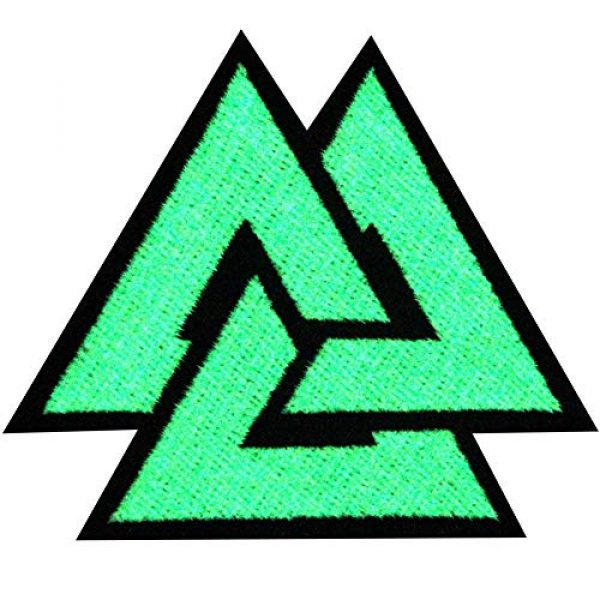 EmbTao Airsoft Morale Patch 1 EmbTao Glow in Dark Valknut Triangle Symbol Viking Norse Rune Morale Tactical Iron On Sew On Patch