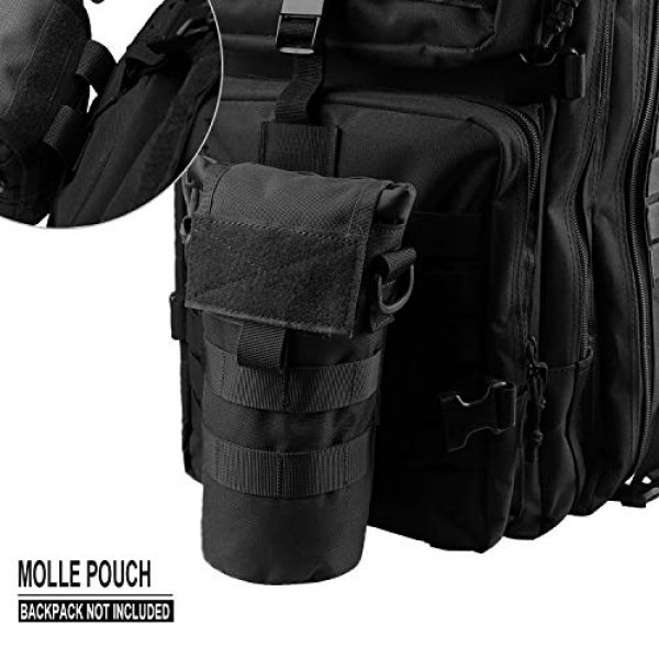 AMYIPO Tactical Pouch 4 AMYIPO Folding Water Bottle Pouch Molle Tactical Holder Storage Bag for 32oz Carrier