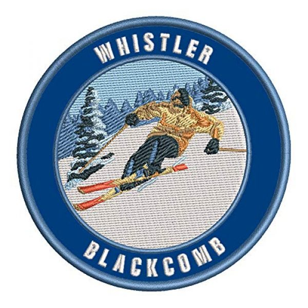 Appalachian Spirit Airsoft Morale Patch 1 Whistler Blackcomb, British Columbia Ski Restort Mountain Embroidered Premium Patch DIY Iron-on or Sew-on Decorative Badge Emblem Vacation Souvenir Travel Gear Clothes Appliques
