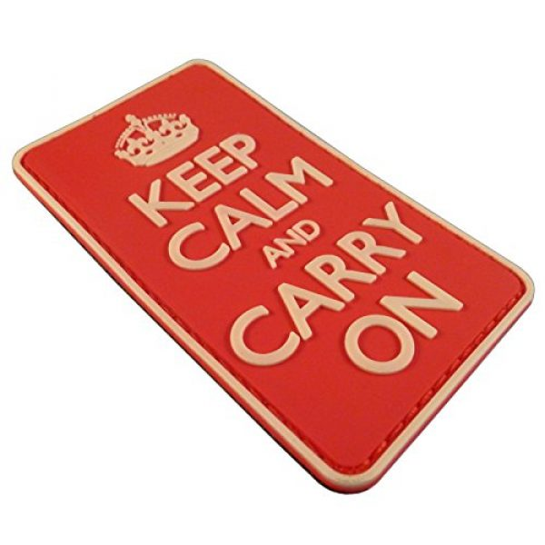 LEGEEON Airsoft Morale Patch 3 LEGEEON Keep Calm Carry On WW2 WWII Morale PVC 3D Hook&Loop Patch