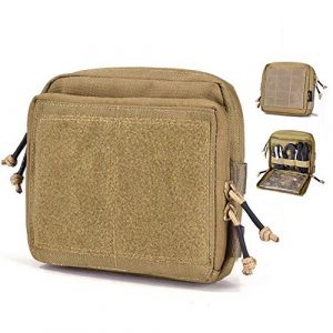 YASHALY Tactical Pouch 1 YASHALY Tactical Pouch, 1000D Tactical Gear Utility Map Admin Pouch EDC Tool Molle Bag Organizer