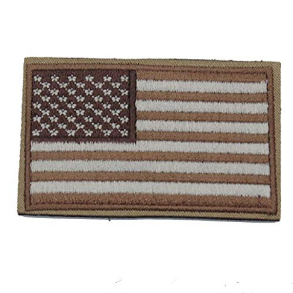 DATOUWEN ACCESSARY Airsoft Morale Patch 3 ZHDTW Tactical Morale US Flag Embroidered Patches with Hook and Loop (DT-029)