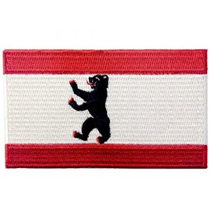 EmbTao Airsoft Morale Patch 1 Berlin City Flag Patch Embroidered Applique Iron On Sew On Emblem
