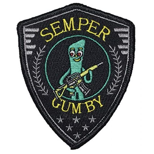 """F-Bomb Morale Gear Airsoft Morale Patch 1 """"Semper Gumby - Always Flexible"""" Tactical Embroidered Morale Patch"""