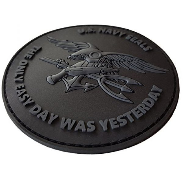 LEGEEON Airsoft Morale Patch 3 LEGEEON All Black ACU US Navy Seals The Only Easy Day was Yesterday DEVGRU Subdued Morale PVC Fastener Patch